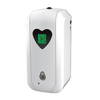 Soap lotion dispensers temperature measurement 2 in 1 disinfection machine automatic soap dispenser white spray type