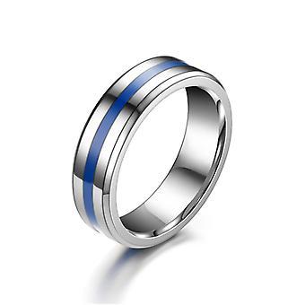 Paar ringen belofte ringen voor koppels titanium staal gladde ring