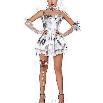 Женщины Призрак Невеста Причудливое платье Вампир Хэллоуин Вечеринка Косплей Костюм