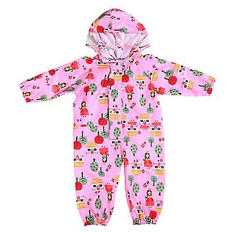 Bestes Geschenk Kinder Cartoon Regenmantel Jumpsuit Regenbekleidung Mädchen Wasserdichter Poncho