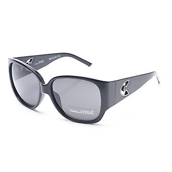 Gianfranco Ferre Women's Rounded Square Sunglasses Black/Silver