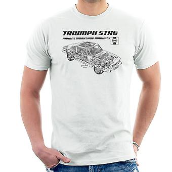 Haynes Workshop Manual 0441 Triumph Stag Black Men's T-Shirt