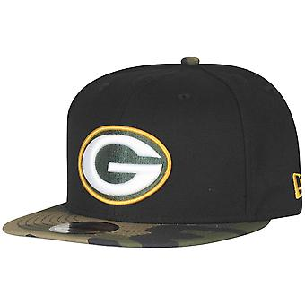 New Era 9Fifty Snapback Cap - Green Bay Packers schwarz camo