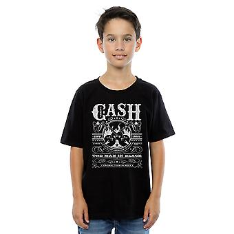 Johnny Cash Boys Whiskey Label T-Shirt