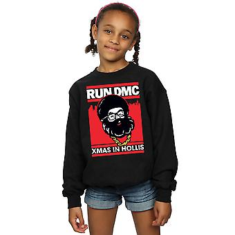 Run DMC Girls Santa Christmas Sweatshirt