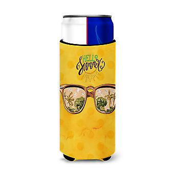 Beach Sunglasses Yellow Polkadot Michelob Ultra Hugger for slim cans