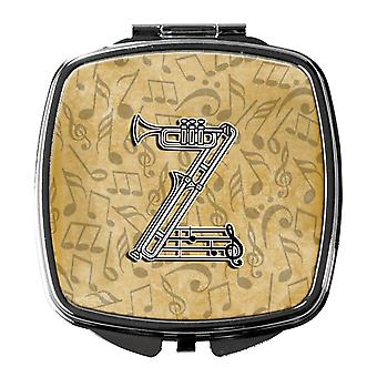 Letter Z Musical Instrument Alphabet Compact Mirror