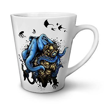 Octopus Horror Monster NEW White Tea Coffee Ceramic Latte Mug 12 oz | Wellcoda