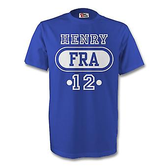 Thierry Henry France Fra T-shirt (blue) - Kids