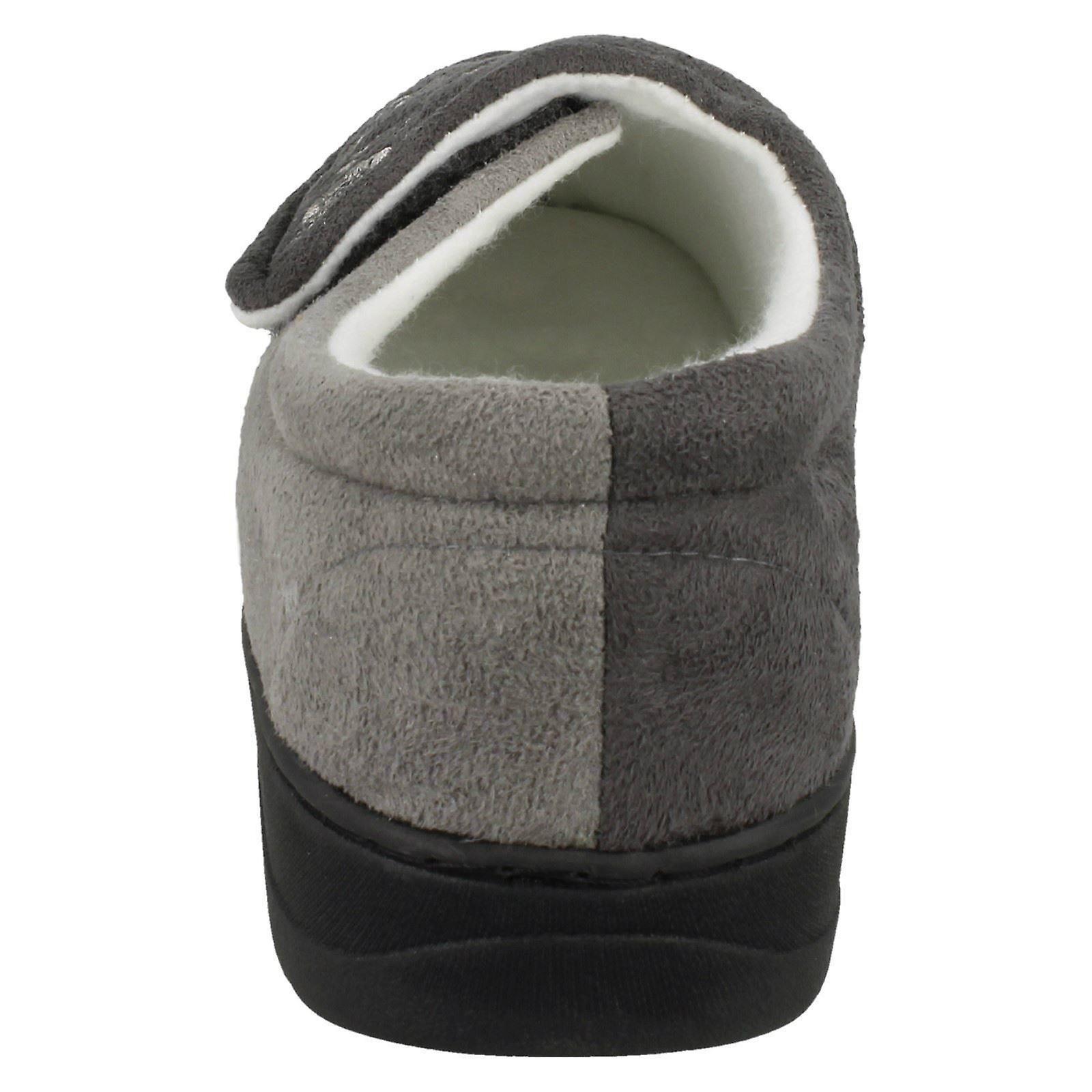 Jyoti Dames Brodé Pantoufles Julie W15-191 - Dark Grey/light Grey Textile Uk Taille 5 Ue 37,5 Us 7