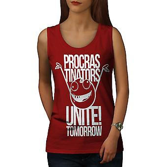 Happy Smile Unite Kadın RedTank Top | Wellcoda
