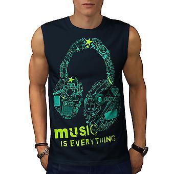 Everything Is Men NavySleeveless T-shirt | Wellcoda