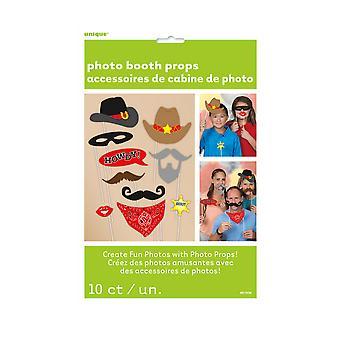 Unike Party vestlige Photo Booth Props (pakke med 10)