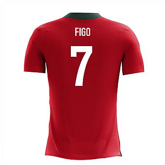 2020-2021 Portugal Airo Concept Home Shirt (Figo 7)