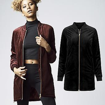 Urban classics ladies - LONG VELVET velour Nicki jacket