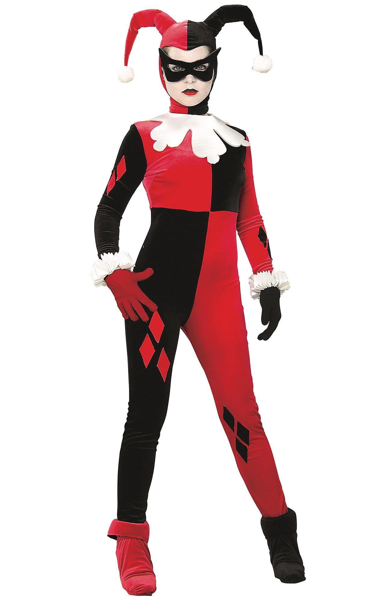 Harley Quinn Gotham Girls Supervillain Batman lisensiert kvinner drakt