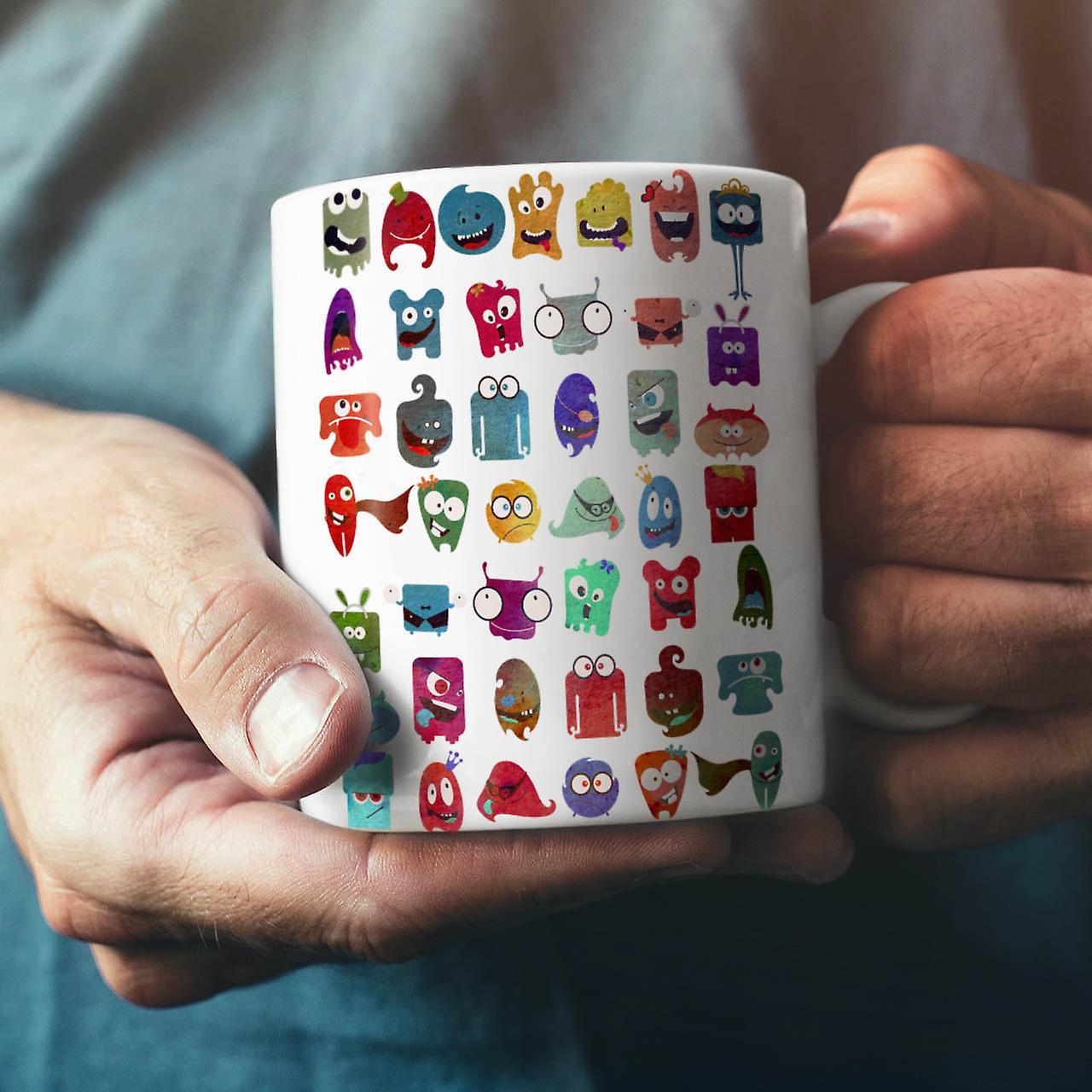 Crazy Silly Print NEW White Tea Coffee Ceramic Mug 11 oz | Wellcoda