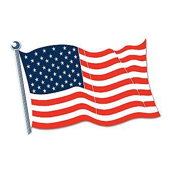 Amerikansk flagg Cutout 18