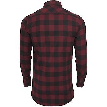 Urban Classics Mens Long Checked flannel shirt