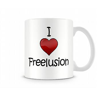 I Love Freelusion Printed Mug