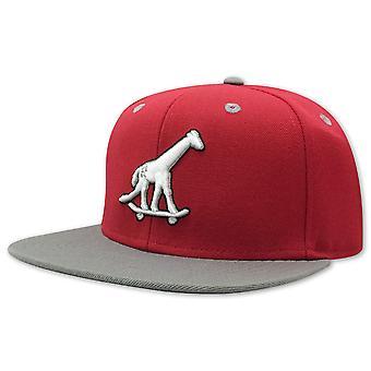 Lrg Skate Giraffe Strap Back Hat Red