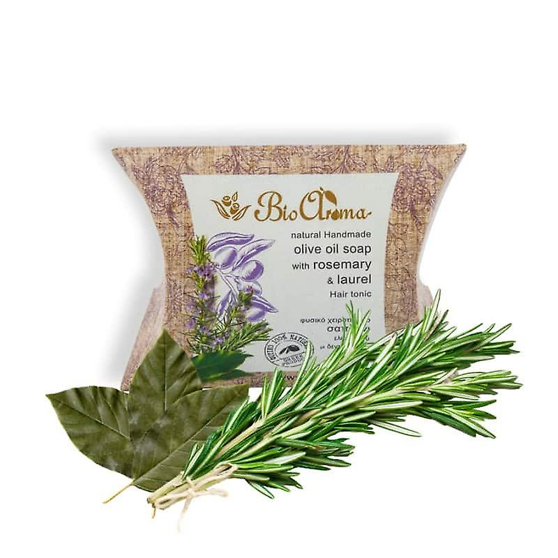 Håndlaget olivenolje såpe mot håravfall - rosmarin og Laurel 90gr