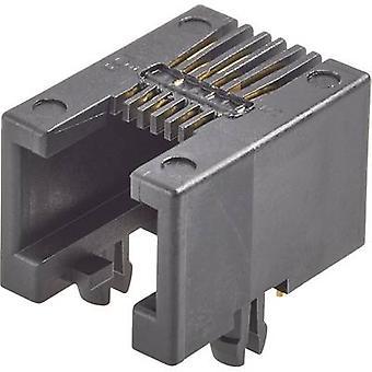 RJ45 mounting socket Socket, horizontal mount Number of pins: 8P8C Modular jacks Black FCI 87180-088LF 1 pc(s)
