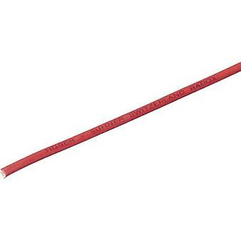 Huber & Suhner 12508401 Strand Radox® 155 1 x 0.25 mm² Red Sold per metre
