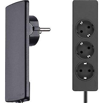 EVOline 151000156100 Socket strip (w/o switch) 3x Black PG connector 1 pc(s)