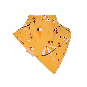 Gelbe Strandvergnügen Bandana Lätzchen