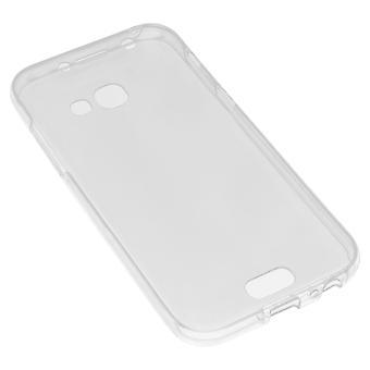 Silicone claro caso + touch capa de tela para Samsung Galaxy A5 2017