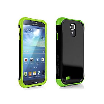 AGF Ballistic Aspira Series Case for Samsung Galaxy S4 (Black/Lime Green)
