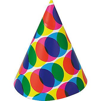Miniatura de chapéu manchado aniversário de chapéu Halloween Silvester carnaval acessórios