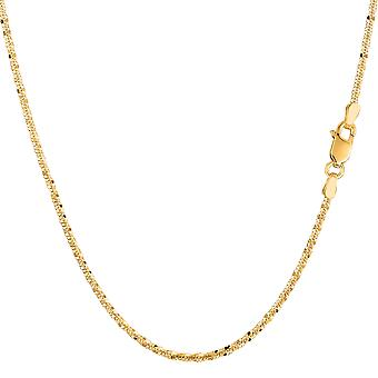 14 k amarelo ouro Sparkle colar, 1,5 mm