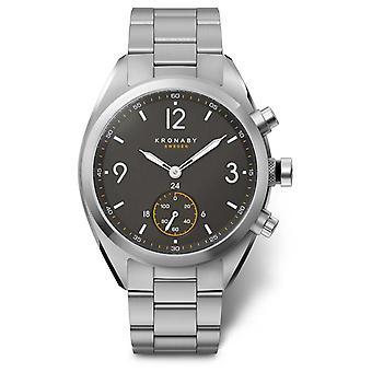 Kronaby 41mm APEX zwarte wijzerplaat roestvrijstalen armband A1000-3113 S3113/1 horloge