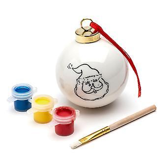 TRIXES fai da te Santa bagattella con 3PC Set di vernice e pennello addobbo di Natale