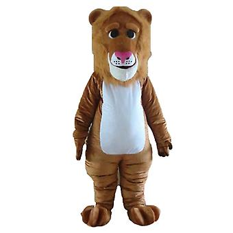 mascot SPOTSOUND of Brown and white, lion with a mane