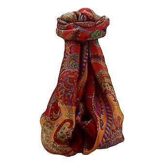 التوت القرمزي Shipra الحرير وشاح طويل التقليدية من الباشمينا & الحرير