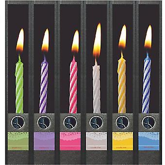 Spine label candles on the cake 6 labels