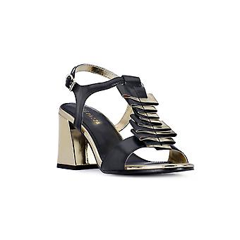 Apepazza sort hæl sandal