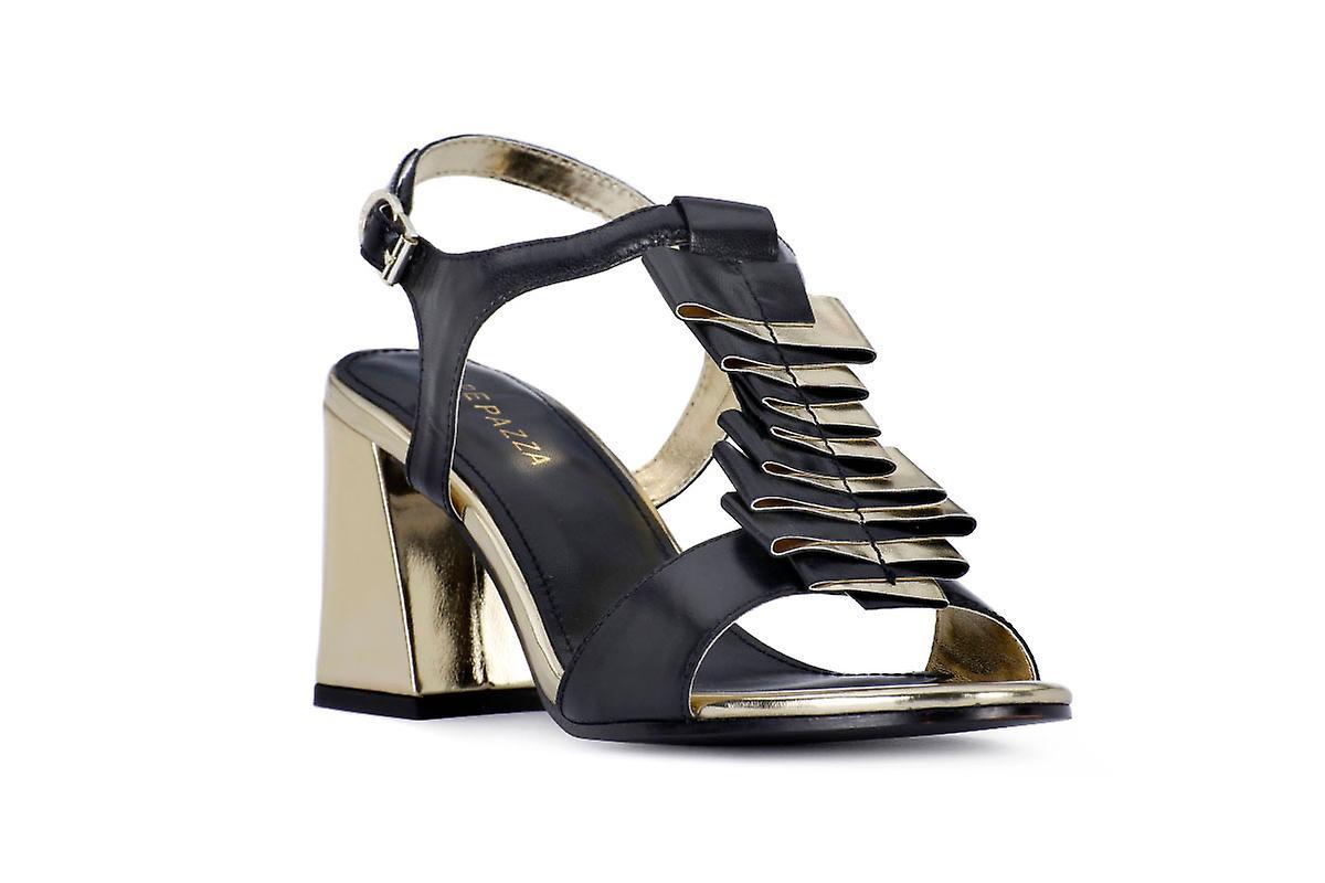 Sandały sandały czarne obcas Apepazza l5dOe