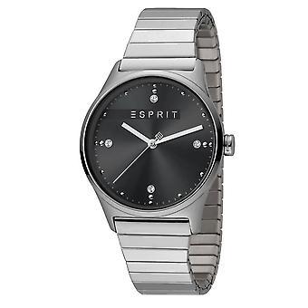 ESPRIT Damen Uhr Womans analogen VinRose Schwarz Silber polnischen Quarz