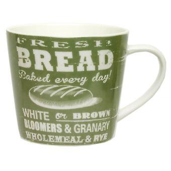 ECP Mug CRK05ZB Green With Bread Design