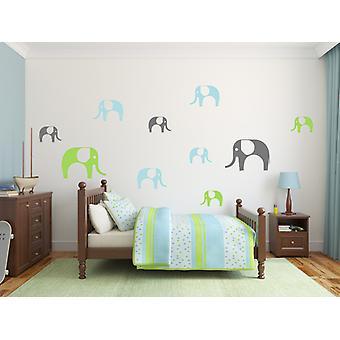 مجموعة من الفيلة لطيف 10 الطفل غرفة نوم جدار ملصق