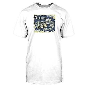 Triumph motocicletas Speed Twins-Classic Bike Mens T-shirt