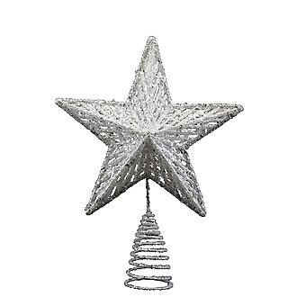 Gisela Graham Silver Christmas Tree Topper