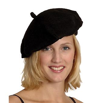 Volwassenen Frans zwarte baret Fancy Dress accessoire
