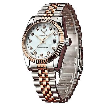 Ladies Watch Gold Silver Women Woman Smart Watches Two Tone