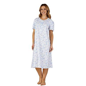 Slenderella ND3206 Women's Cotton Woven Night Gown Loungewear Nightdress