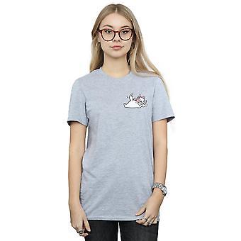 Disney Women's Aristocats Marie Sweet Backside Breast Print Boyfriend Fit T-Shirt